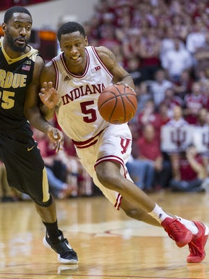 Indiana forward Troy Williams is one of 63 players invited to this year's NBA Draft Combine.