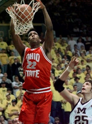 Ohio State's Michael Redd, now involved in community outreach in Columbus, was a star for the Buckeyes and the NBA's Milwaukee Bucks.