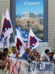 July 10, 2015 Anti-austerity rally in front of the