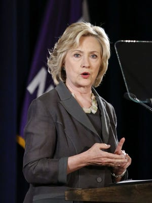 """Democratic presidential candidate Hillary Clinton speaks at the Call for Shift from """"Quarterly Capitalism"""" conference in New York on July 24, 2015."""