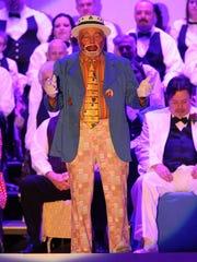 Endman Tom Shook performs at a past Hobo Minstrel Show,