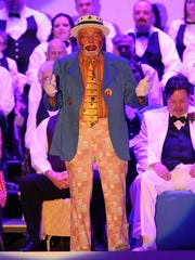 Endman Tom Shook performs at a past Hobo Minstrel Show, a tradition in the Greencastle community for more than 81 years.