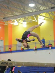 Jackie Terpak trains at Prestige Gymnastics in Lancaster. She plans to head to Logan, Utah after graduating from Central York in 2018.