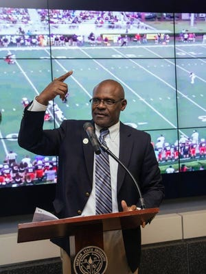 Jackson State coach Tony Hughes is trying to make energy and enthusiasm staples of his program.