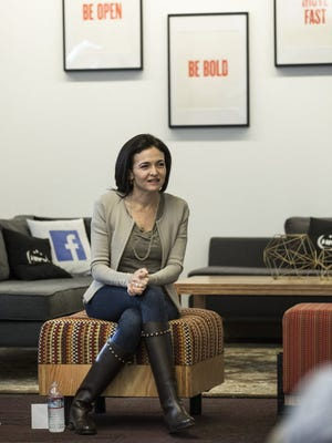 Facebook COO SHERYL SANDBERG is photographed at an event at Facebook headquarters on Menlo Park, CA on Monday, February 1, 2016. Under her direction, Facebook has benefited from a surge in mobile advertising that's lifted its bottom line.