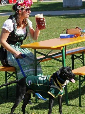 Head outside for an Oktoberfest celebration.