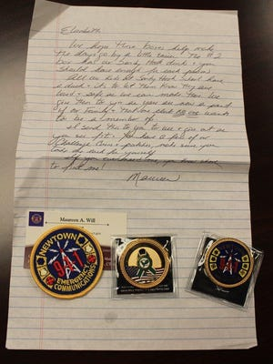 A note from a Newtown 911 director to her counterparts with the Anderson County 911 system.