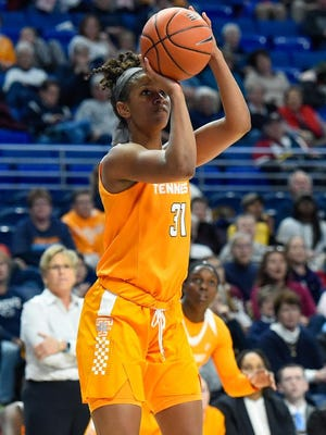 Tennessee's Jaime Nared  shoots the ball against the Penn State on Sunday at Penn State.
