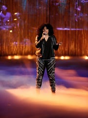 """McDonald performing on """"The Voice."""""""
