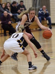 Shippensburg's Kara Newell tries to get past a defender.