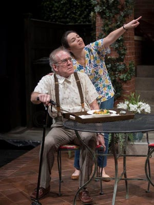 Mark Jacoby and Zoe Sophia Garcia in 'One House Over' at Geva Theatre Center.