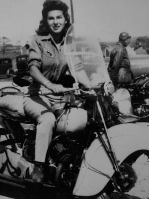 Gloria Struck, of Clifton with her first Harley.