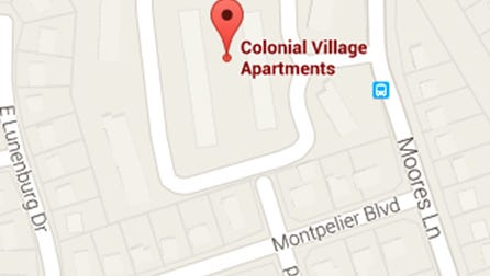 Police say two men were robbed at gunpoint at Colonial Village Apartments.
