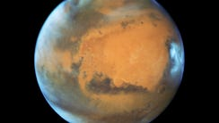 The Hubble Space Telescope took this image of Mars