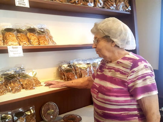 Mildred Grove, 87, started Grove's Brittle Works with her late husband, Evan, 60 years ago. The store at 1424 E. Chocolate Ave., Hershey, now sells 250 different types of candies and 21 flavors of brittles.