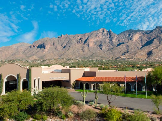 The Santa Catalina Mountains in Tucson provide a backdrop to the Westin La Paloma Resort & Spa.