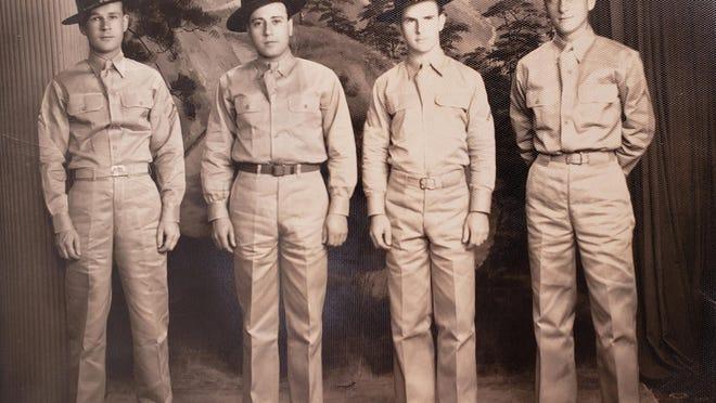 Pvt. Edward Gorodesky, second from left.