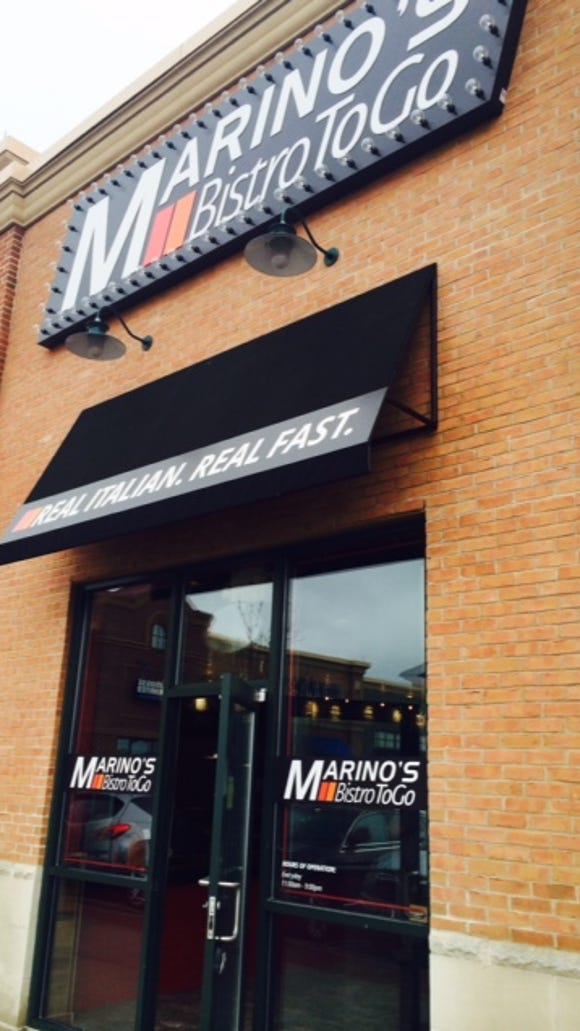 Marino's Bistro to Go opened last spring in Marketplace at Garden State Park in Cherry Hill. It is the company store, from which other franchises such as the one in Camden will grow.