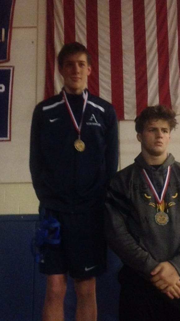 Asheville School wrestler Conor Fenn was the 182-pound champion at the Falcon Frenzy tournament in Hendersonville.