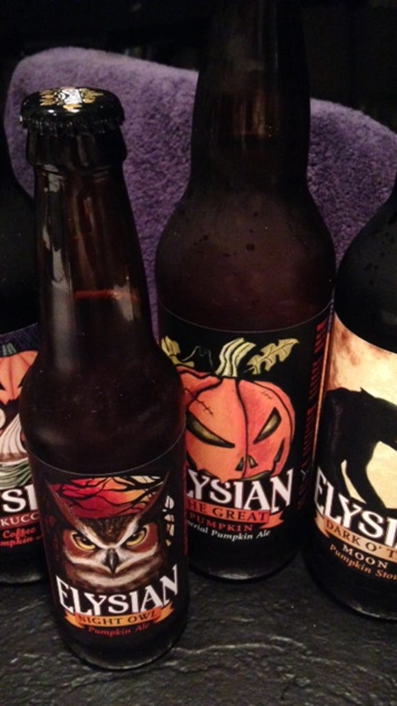 The Elysian family of pumpkins, including from left: