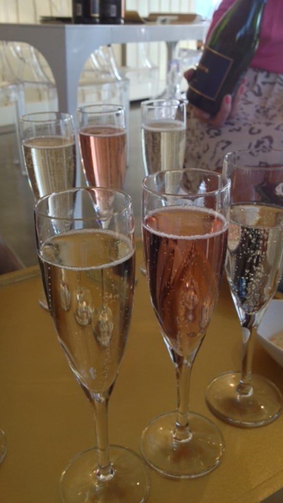 A glass - or three - of sparkling wine from Mumm? Not a bad way to end the day in Napa Valley.