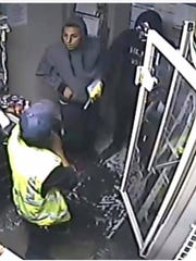 Sayreville gas station robbery suspects.