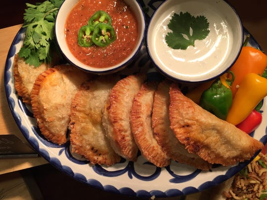 Pork- and beef-filled empanadas on the Indiana Pacers