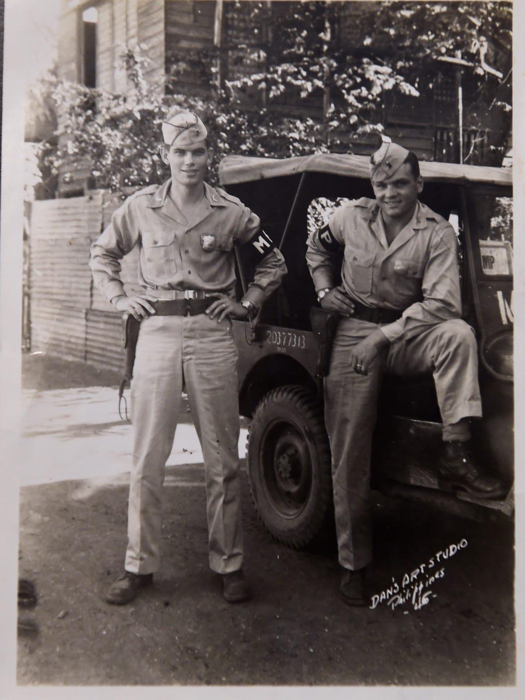 Em Ghianni, right, is a World War II Army veteran.
