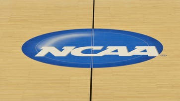 General view of the NCAA logo.