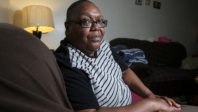 Joyce Rhodes, 62, suffers from diabetes and a host of other illnesses.  She has been rationing her medicine because she is unable to afford them. Sept. 20, 2016