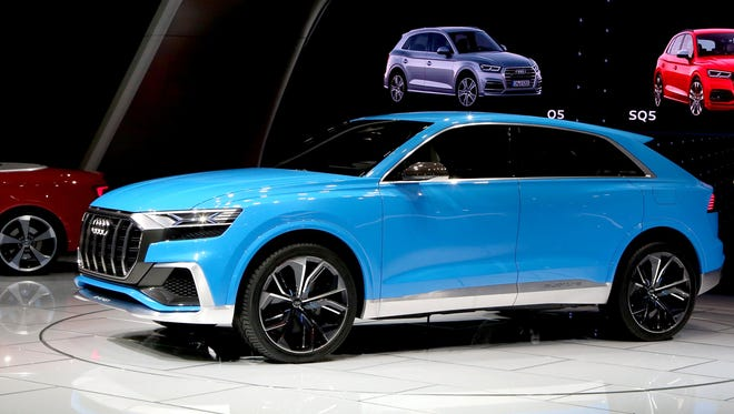 The Audi Q8 concept at the 2017 North American International Auto Show held at Cobo Center in downtown Detroit on Monday, Jan. 9, 2017.