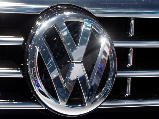In this Sept. 22, 2015, photo, the Volkswagen logo