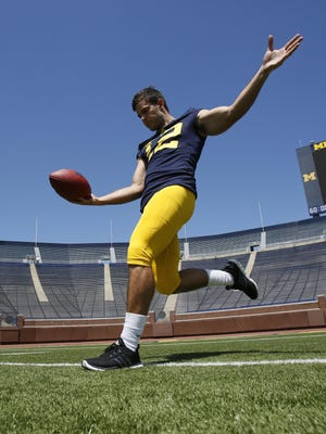 A graduate transfer from Weber State, Blake O'Neill is pushing to be U-M's primary punter. O'Neill and junior walk-on Kenny Allen will play Thursday.