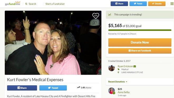 Lake Havasu City resident Kurt Fowler was injured in the Las Vegas mass shooting.