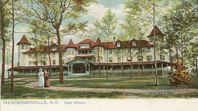 The Wheeler Hotel was a top draw for tourists coming to Hendersonville during the summer months.