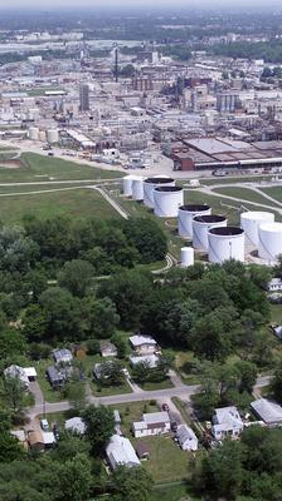 Chemical plants, such as some in the Rubbertown area