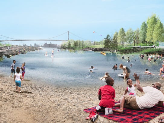 "This rendering of ""The Cove"" is part of the West Riverfront"