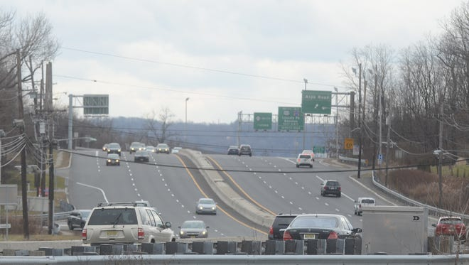 Motorists going south on Route 23 were alerted to potholes on Saturday.
