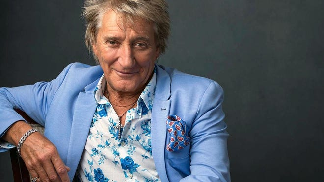 "Rod Stewart poses for a portrait on Aug. 8 in New York to promote his tour and upcoming album, ""Blood Red Roses."""