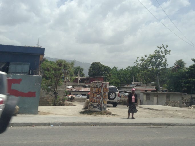 A woman on the streets of Port-au-Prince: the capital of Haiti.