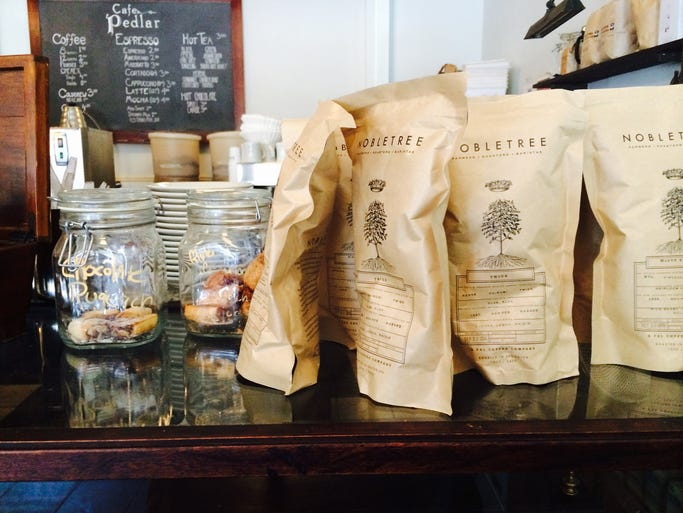 Recently launched New York City roaster Nobletree is served at Cafe Pedlar.