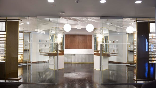 The showroom at Warby Parker in the L&C building June 16, 2016 in Nashville, Tenn.