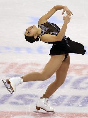 Mirai Nagasu performs her free skate.