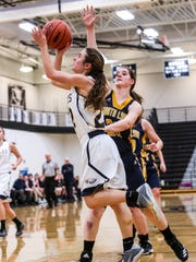Hartland's Michelle Moraitis scored 9 points and shut