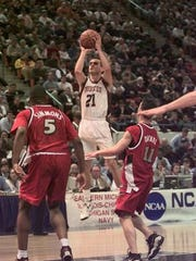 Princeton's Mitch Henderson in the 1998 NCAA Tournament.