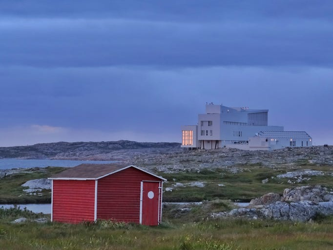 The 29-room Fogo Island Inn was designed by Newfoundland-born, Norway-based architect Todd Saunders and is owned by the non-profit Shorefast Foundation.