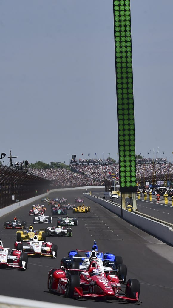 The 100th Indianapolis 500 will be held May 29, 2016