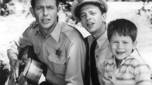 Andy Griffith, left, Don Knotts and Ron Howard starred in 'The Andy Griffith Show.'