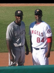 Best friends Lorenzo Cain (left) and Jeremy Haynes