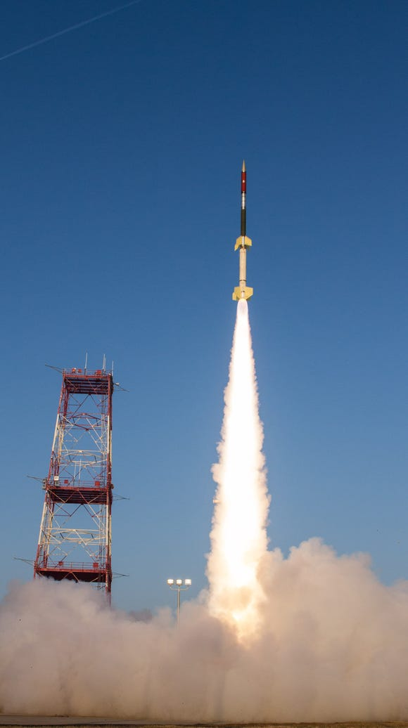 A Terrier-Improved Orion suborbital sounding rocket